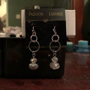 Dangly crystal earrings